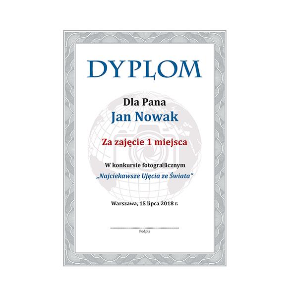 Dyplomy, certyfikaty, świadectwa